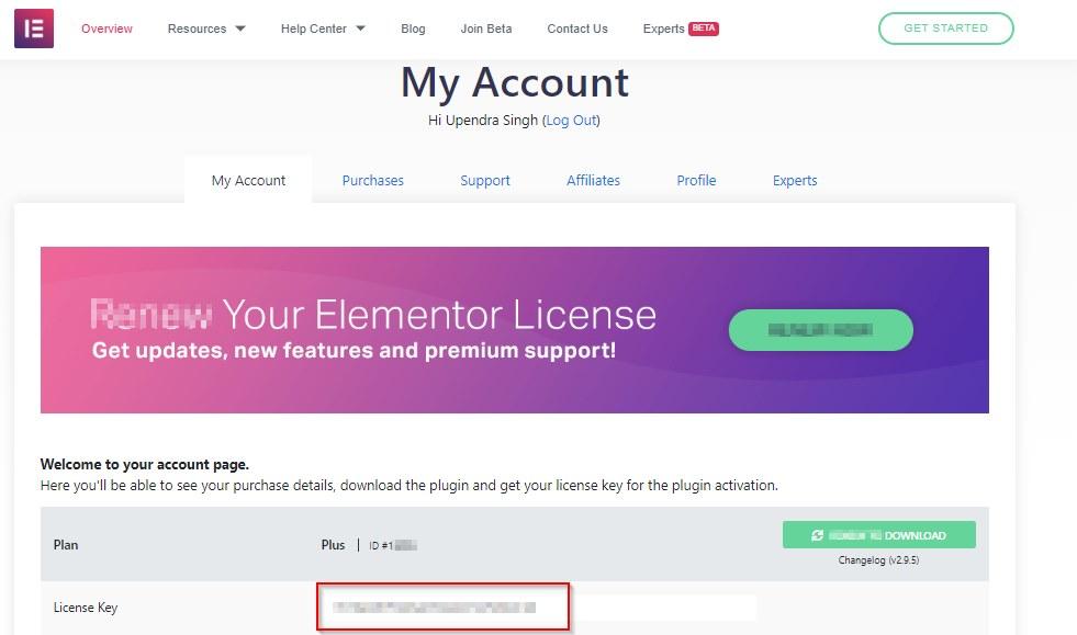 Elementor Pro Licence Key