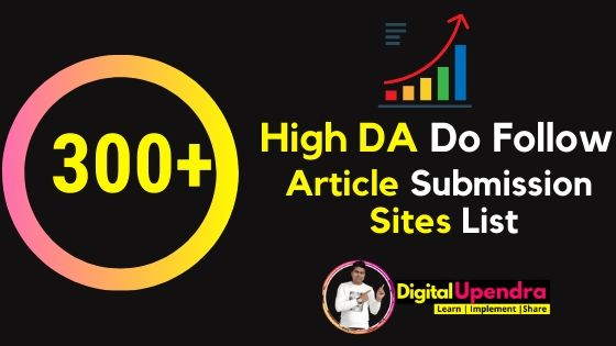 article submission sites list with instant approval